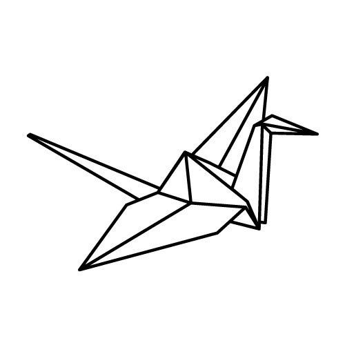 Paper Crane temporary tattoo sticker by Bijan por tattoosticker