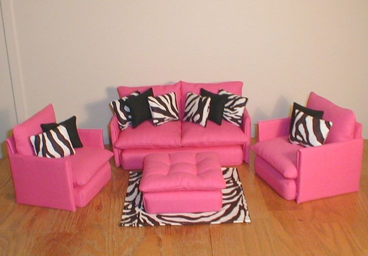 Pink Zebra Living Room Furniture