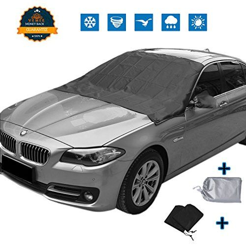 "[UPGRATED]Magnetic Edges Automobile Windshield Snow Cover Mirror Cover, Sun Shade Protector Snow Ice Cover Rain Resistant,Universal Waterproof Windshield Cover Car,SUV,TRUCK ,83'' 47"" - ☃ ☃with VeMee Brand Automobile Windshield Snow Cover no more spraying, scraping and deicing your vehicle windshield in the cold conditions Be prepared for the arrival of cold weather?with VeMee Winshied Cover, protect your windshield from snow and ice all winter long. SAY GOO..."