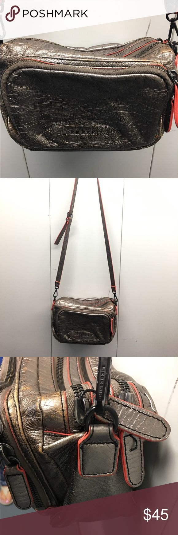 Liebskind metallic leather crossbody! Liebskind metallic leather crossbody bag! Used condition with lots of life left. Please message with any questions :) Liebeskind Bags Crossbody Bags