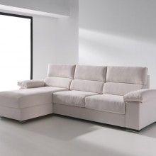 Sofá cama 2 plazas + Chaise Longue Milán. Es Interiorismo