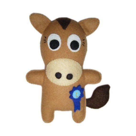 Felt Horse Doll  Dobbin Wins First Prize by FeltLikeStitchin, £11.00