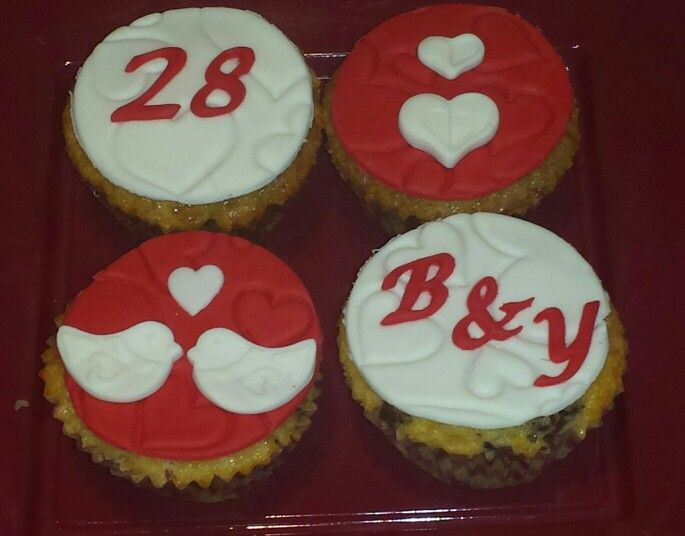 Cupcakes de enamorados!