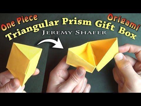 Triangular Prism Gift Box - YouTube