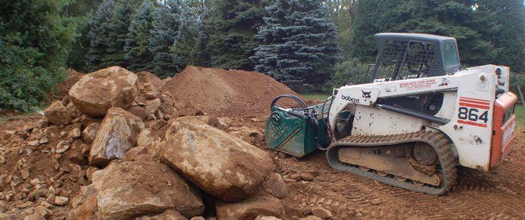 skid steer top soil screener