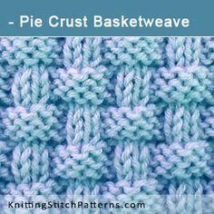 Torta Crosta Basketweave | Combinações Knit & Purl Stitch. Padrão de tricô grátis ...
