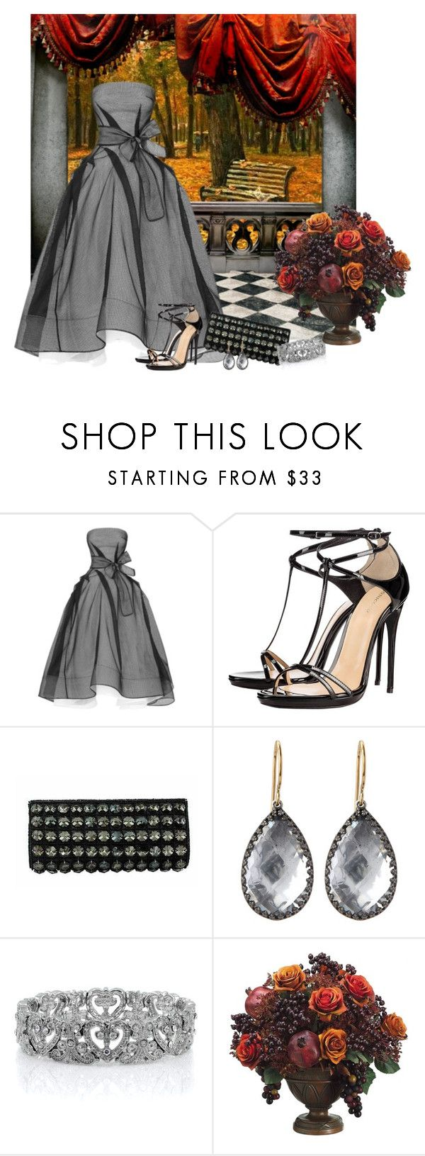 """Untitled #441"" by whiteflower7 ❤ liked on Polyvore featuring Maticevski, NOVICA, Larkspur & Hawk, Emitations and Allstate Floral"