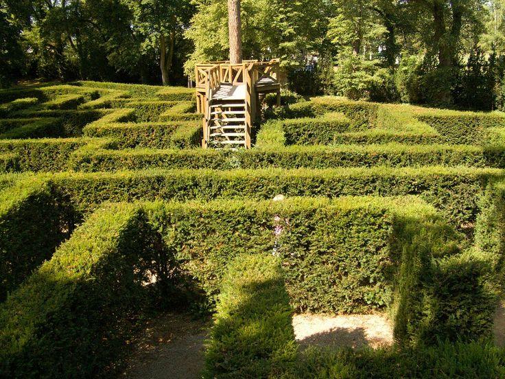 Labyrint v zámecké zahradě Loučeň