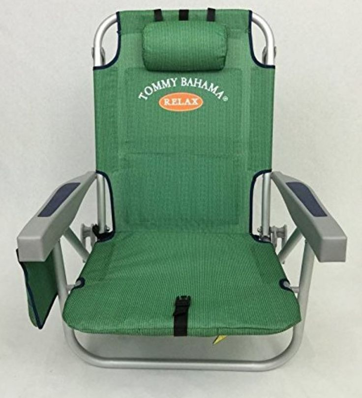 Tommy Bahama Beach Chair Backpack Cooler Chair Storage Pouch Towel Bar Green #TommyBahama