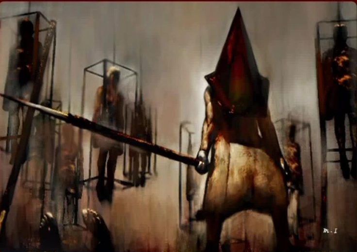 This is the reference photo for my piece of Pyramid Head from Silent Hill 2. The painting is originally by Masahiro Ito, who is the creature designer for the game series. In the game, it is called Misty Day; Remains of the Judgment. That is where I got the name for my reproduction, which is simply Remains of the Judgment.