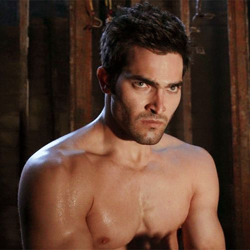 Pin for Later: 9 Times You Couldn't Unglue Your Eyes From Tyler Hoechlin's Shirtless Bod on Teen Wolf When He Gives This Smoldering Look and It's Sexy as Hell