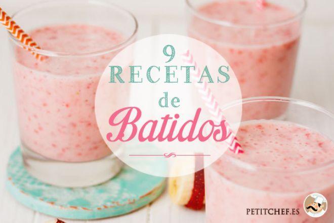 9 recetas de Batidos! refrescante y deliciosa bebida.