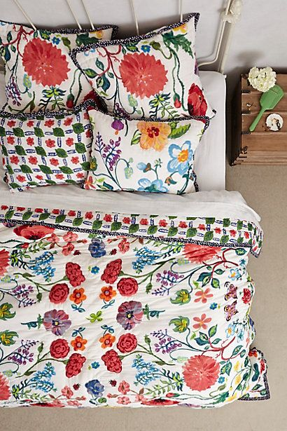 If I win the lotto I will buy all of anthropolgie's bedroom range, amazing! Tuileries Quilt - anthropologie.com