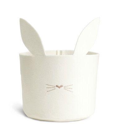 Felt bunny storage basket from H&M GB                              …