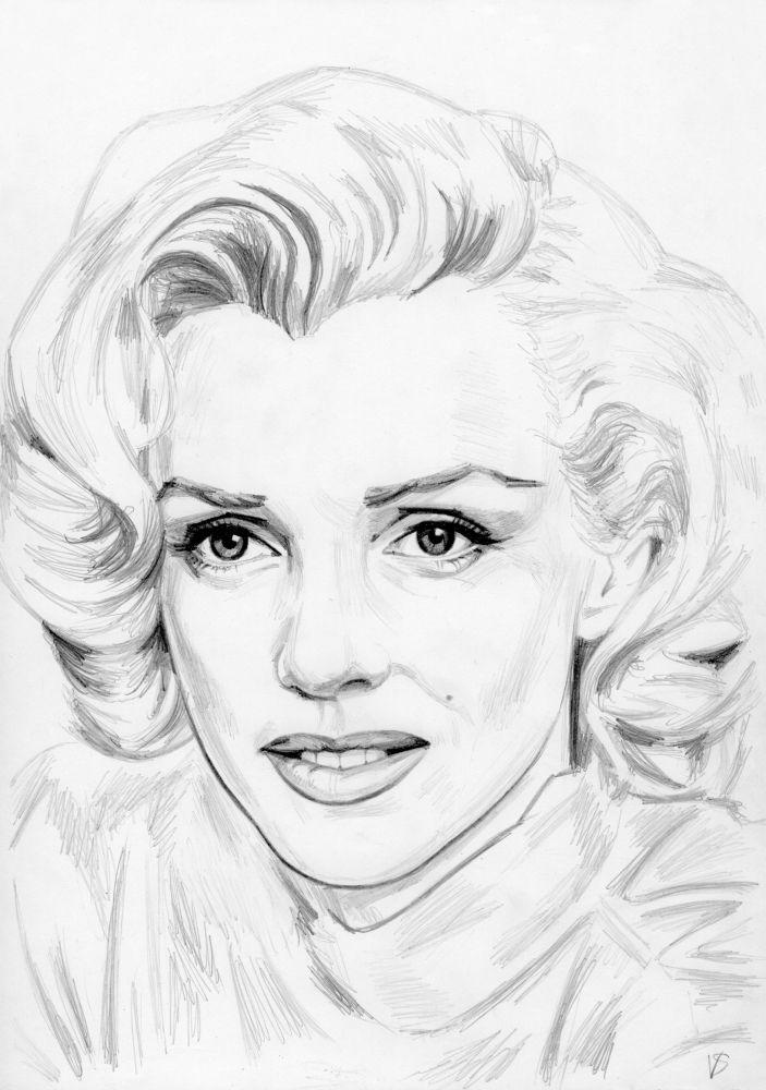 Мэрилин монро рисунки карандашом картинки