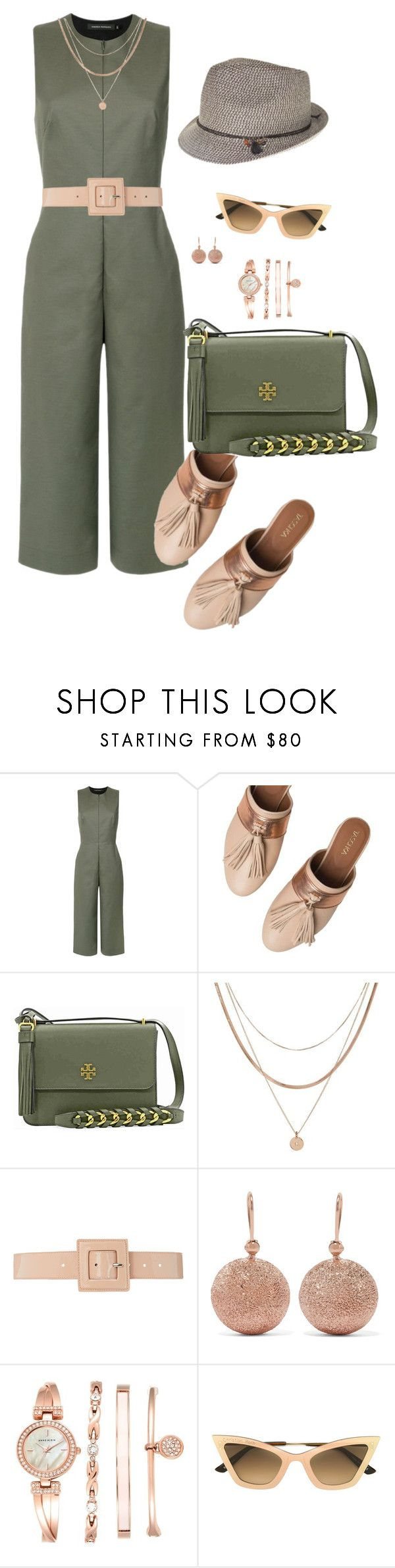 """Tendência 2018: macacão pirata"" by doramoleiro ❤ liked on Polyvore featuring Andrea Marques, Taschka, Tory Burch, Luv Aj, B-Low the Belt, Carolina Bucci, Anne Klein, Christian Roth, Nine West and jumpsuit"