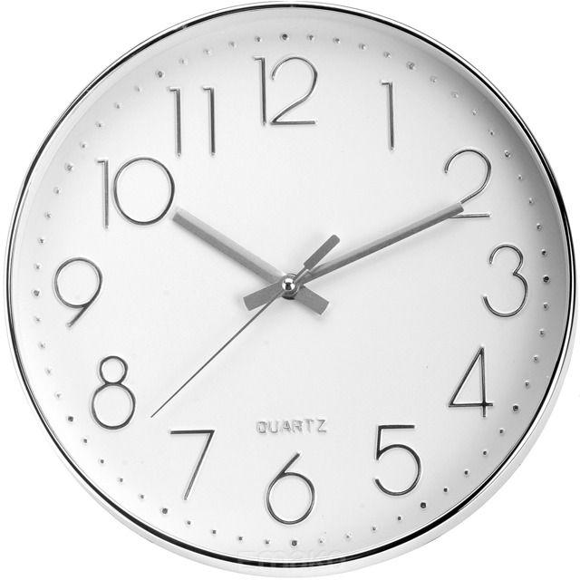 Oryginalny zegar z przejrzystymi i dużymi cyframi. Z pewnością świetnie wpasuje się do każdego pomieszczenia - pokoju gościnnego, biura, kuchni lub sypialni. Wyposażony w wygodne i proste w użyciu pokrętło, które pozwoli w łatwy sposób nastawić aktualny czas. Mechanizm QUARTZ. Ø 30 cm