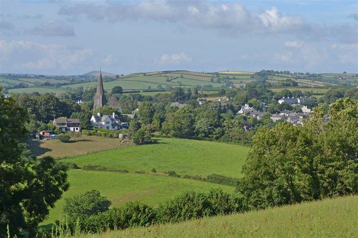 The pretty countryside surrounding Modbury