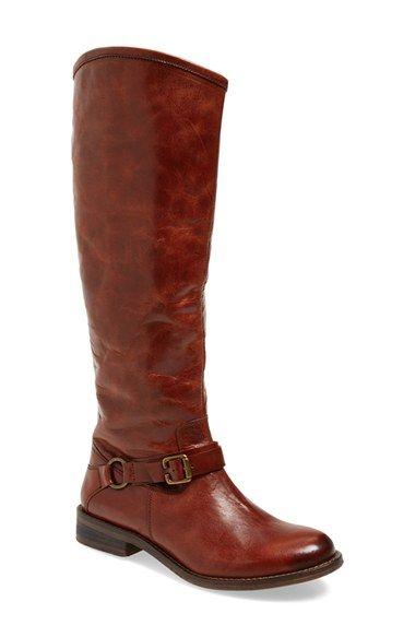 Hinge 'Dakotah' Tall Boot leather grey, cognac sz7.5 149.95