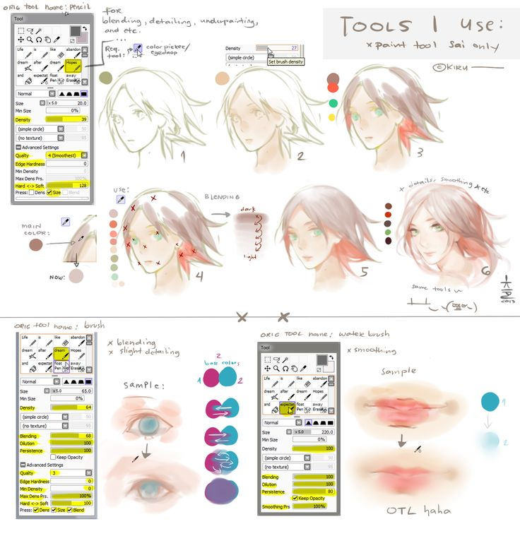 SAI: Tools I use + Settings + a bit tutorial by keerou.deviantart.com on @deviantART