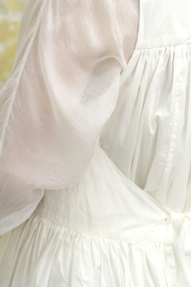 spring - silk veil dress + cotton apron dress now @ #caseycaseyshop #caseycasey #6ruedesolferino75007paris