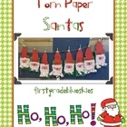 Torn Paper Santas freebie