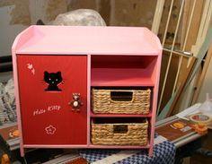 Puppenkleiderschrank mit Wickelablage sägen,Schleifen,Schrauben,Spielzeug,Kinde…