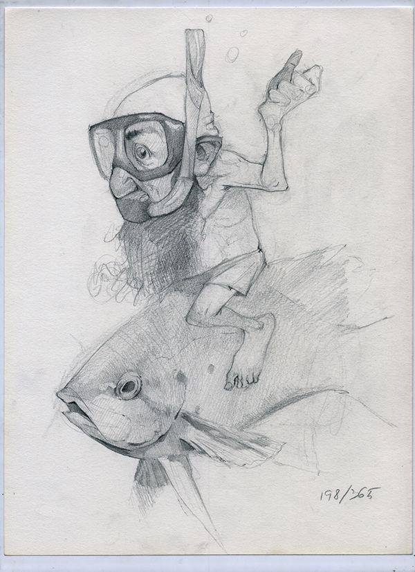 365 sketches - July 2013 - selection by Ramon Mascaros, via Behance