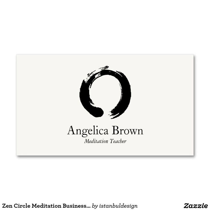 140 best meditation business cards images on pinterest for Zen business cards