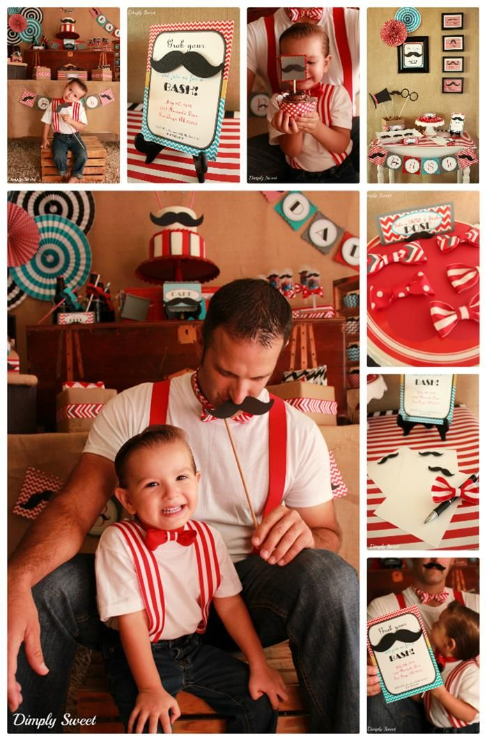 Father Son Mustache Bash with LOTS of CUTE IDEAS via Kara's Party Ides | Kara'sPartyIdeas.com #Father #Son #party #idea