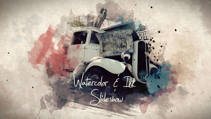 Watercolor & Ink Slideshow is an artistic and very versatile slideshow for any occasion and is perfect for holidays, birthdays, anniversaries or weddings.