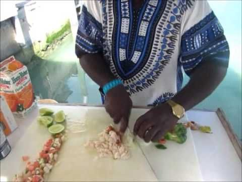 How to Clean Conch and Make Bahamian Conch Salad