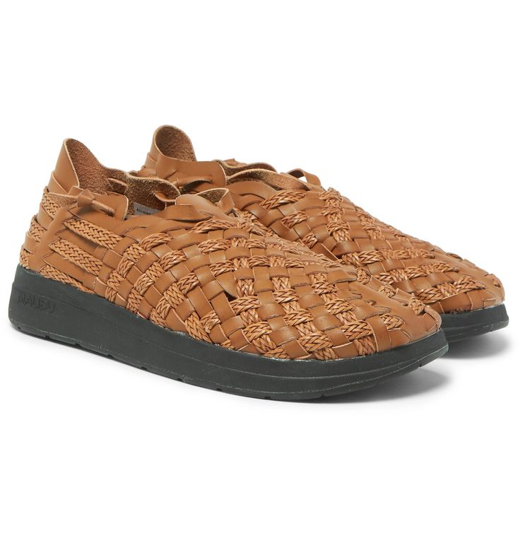 <a href='http://www.mrporter.com/mens/Designers/Missoni'>Missoni</a> collaborates with shoemaker <a href='http://www.mrporter.com/mens/Designers/Malibu'>Malibu</a> to create this pair of sandals, which is inspired by the traditional Mexican huarache. Seen on the Italian brand's Spring '17 runway, they're woven from strips of brown faux leather that create a supple cage aro...