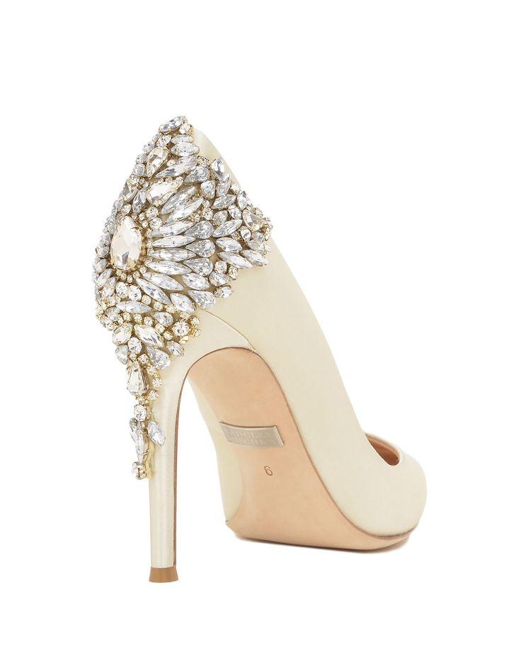Great Badgley Mischka Gorgeous Ivory The White Collection Designer Wedding Shoes Australia