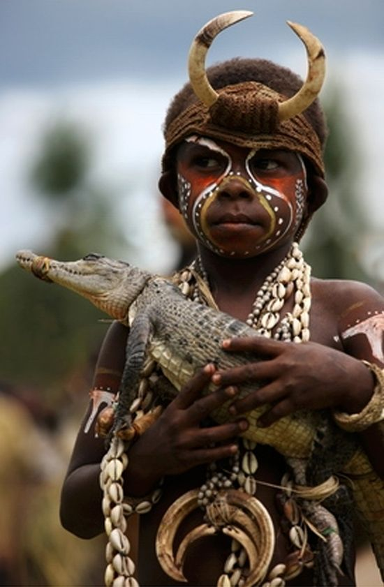 "Papua New Guinea | ""Sepik crocodile sing-sing"". 