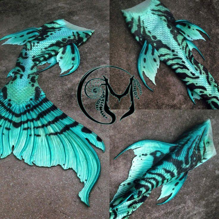 Amazing full silicone mermaid tail by Merbella Studios! Love the jade\teal…