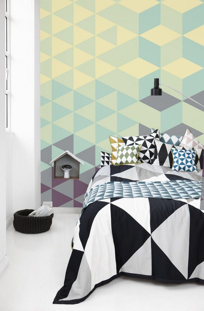 geometric pattern bedroom