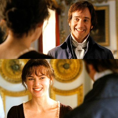 "AAAH! I love this part!! Especially the look Darcy gives Georgiana when she tells Lizzie that he says she plays well it's like ""Georgiana, shut up she wasn't supposed to know that!!"" :D"