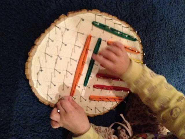 Fairy Dust Teaching Kindergarten Blog: DIY Natural Geoboard