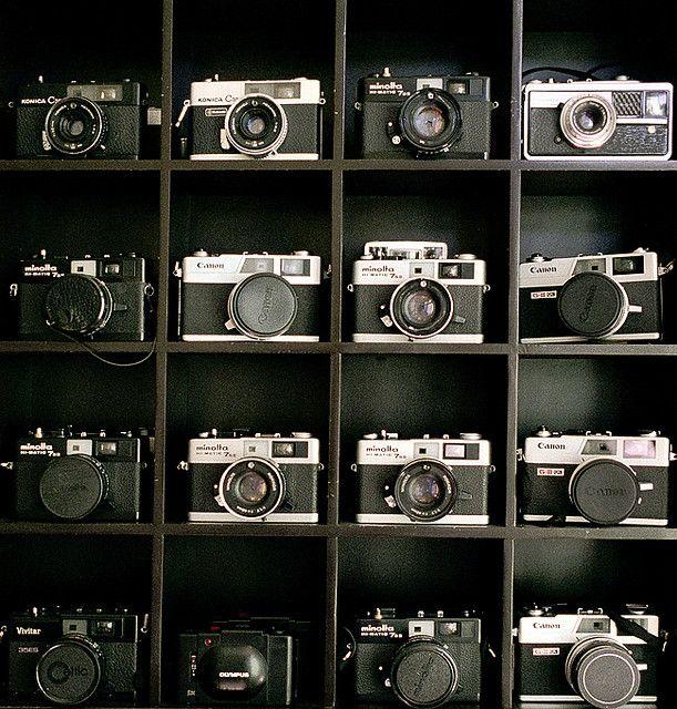 Camera porn....    A few of my film cameras taken a few years ago.