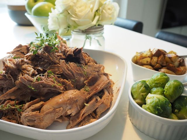 Slow cooked leg of lamb