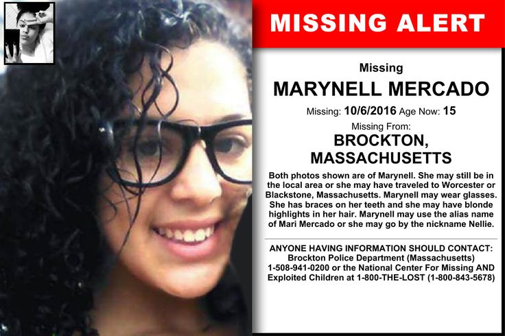 MARYNELL MERCADO, Age Now: 15, Missing: 10/06/2016. Missing From BROCKTON, MA. ANYONE HAVING INFORMATION SHOULD CONTACT: Brockton Police Department (Massachusetts) 1-508-941-0200.