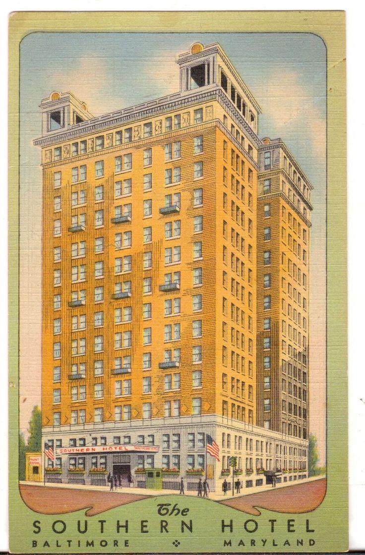 Undated Unused Postcard The Southern Hotel Baltimore Maryland MD - Advintage Plus
