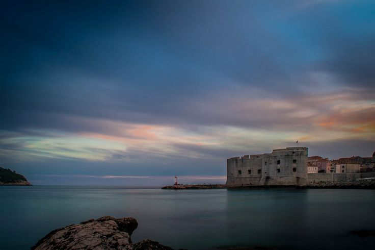 Approaching the magical hour at twilight in Dubrovnik…
