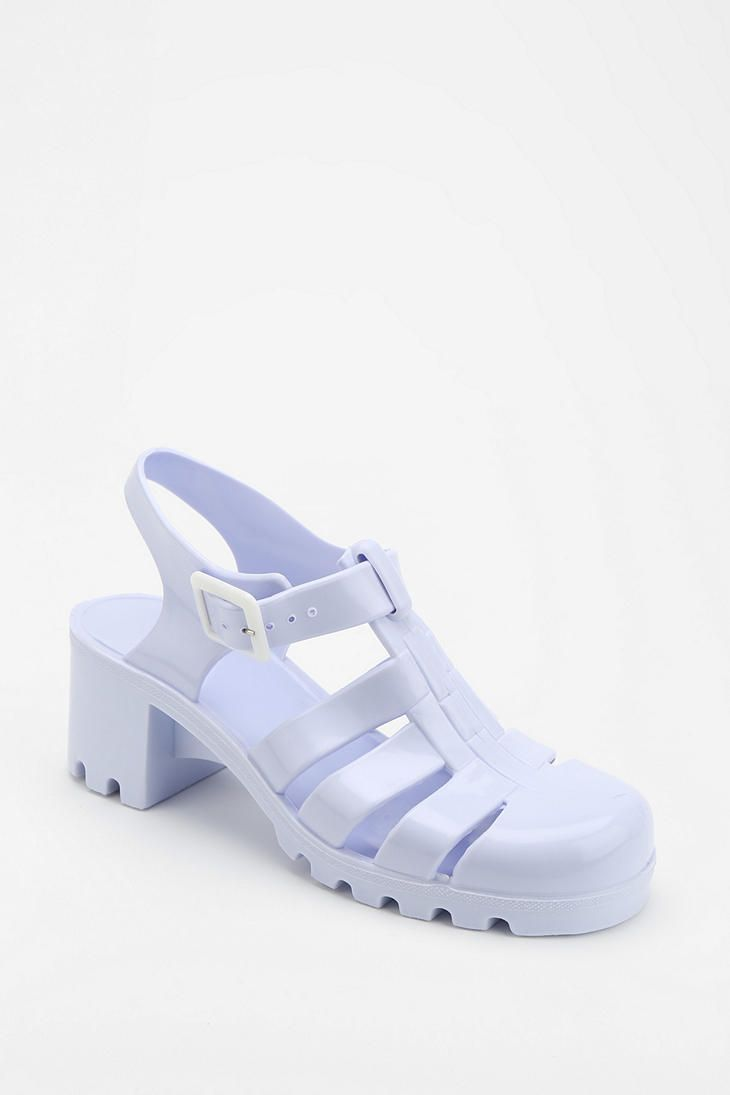 Lavender sandals shoes - Juju Footwear Babe Jelly Heeled Sandal Urbanoutfitters