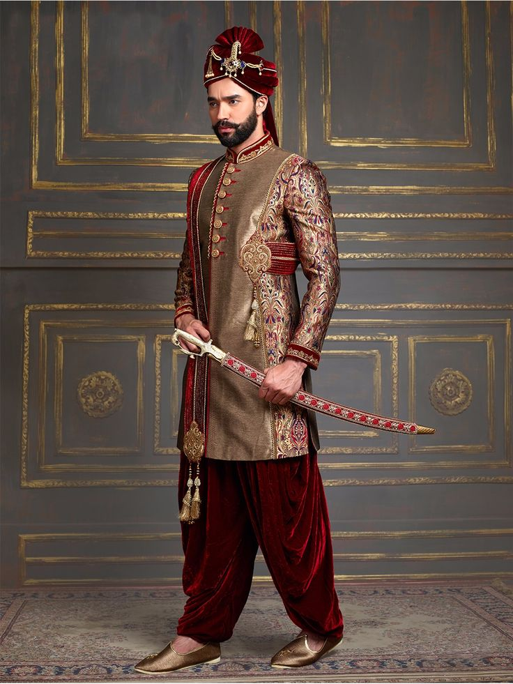 1000 images about buy mens wedding sherwani at g3 fashion for Indo western wedding dress for men