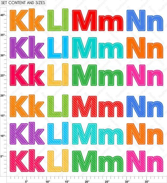 Alphabet Clipart Part 4 ABC clip art KLMN by pixelpaperprints