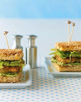 Garnelen & Avocado auf Sesamtoast