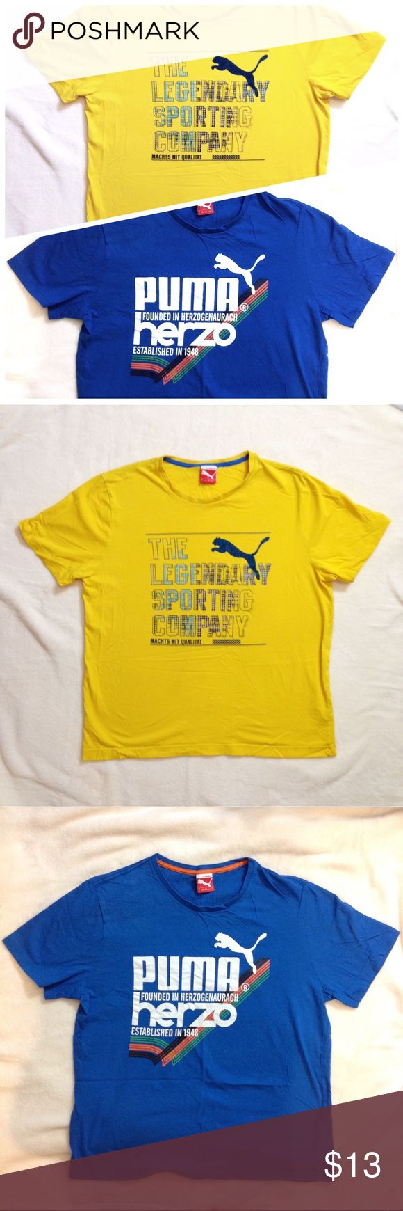 Set of 2 puma t-shirts Very gently used. Great condition. Pit to pit 42 inches, length 24 inches. 100% cotton. Puma Shirts Tees - Short Sleeve