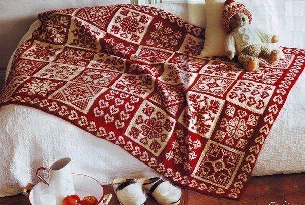 Norvég mintás kötött takaró | Kötni jó - kötés, horgolás leírások, minták, sémarajzok